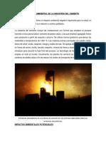 Impactos ambientales de la industria del cemento