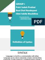 Syntax 1