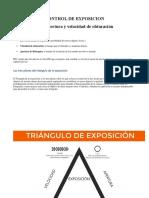 El triángulo de la exposición fotoigrafica
