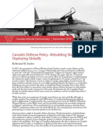 Canada's Defense Policy—Rebuilding Slowly, Deploying Globally