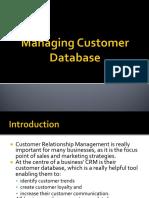 Managing Customer Database