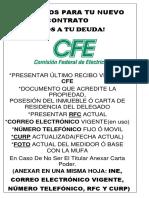REQUISITOS CFE