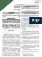 Decreto Supremo Nº 031 2018 PCM Aprueba Reglam DL 1203