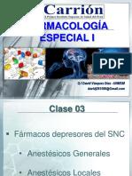 Clase 03 - Farmacos Anestesicos