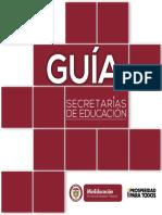 Guía Secretarias de Educación