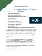 Organismos constitucionales autónomos del Peru