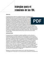 Estrategias Para El Fortalecimiento de Las TIC