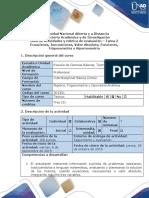 Guía de actividades y rubrica de evaluación - Tarea 2 - Desarrolar ejercicios Unidad 1 y 2