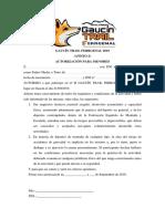 Autorización Paterna Participación Gaucín Trail 2019