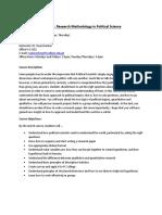 PLSC 304 Research Methods Outline