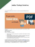 Por qué estudiar Trabajo Social en Colombia