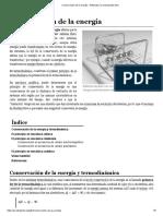 Conservación de La Energía - Wikipedia, La Enciclopedia Libre