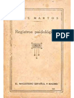 Registros Paidológicos