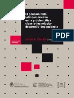 El Pensamiento Latinoamericano en La Problemática Ciencia-tecnología-Desarrollo-Dependencia (Sabato -Compilador-)