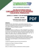 Temario-ley de Seguridad y Salud en El Trabajo 2019