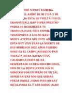 Dragon Ball Rap Super(Letra)