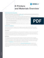 Polyjet 3d Printers Systems Materials Spec Sheet