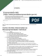 Outras Dúvidas Relacionadas Ao Microempreendedor Individual — Portal Do Empreendedor - MEI