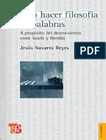 Cómo Hacer Filosofía Con Palabras Navarro Reyes
