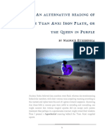 An alternative reading of the Yuan Anxi Iron Plate, or the Queen in Purple.