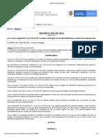 Decreto 400 de 2014