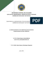 Institucionalización en Quito