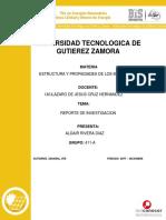 Reporte de Investigacion Propiedades de Los Materiales Aldair Rivera Diaz 411-A