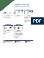 Calendario Academico_SÃO PAULO - SUL_DM_Arapongas 19-2