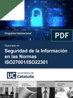 seguridad de la informacion en las normas ISO27001