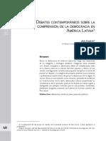 Debates contemporáneos sobre la comprensión de la democracia en América Latina
