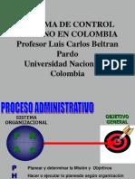 1. Historia Del Control  interno en Colombia