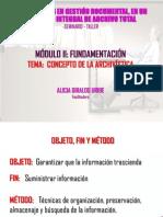 MODULO DE FUNDAMENTOS DE ARCHIVISTICA