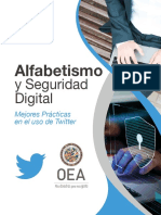 Alfabetismo y Seguridad Digital en Twitter (OEA)