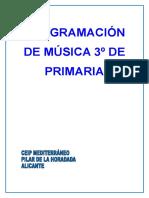 Programación 3º Música