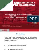 Semana 07 Legislación Informática y Política de Seguridad
