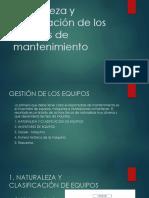 Naturaleza y clasificación de los equipos de mantenimiento.pptx