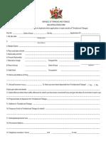 0 Visa Application Form trindad and tobago