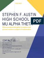 ahs mu alpha theta sponsorship packet  1