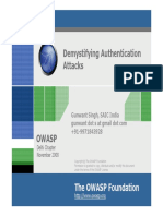 Demystifying Authentication Attacks