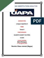 Tarea 6 de Lengua Española