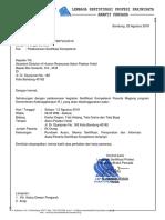 Surat Pemberitahuan UJK Peserta Magang Kemenaker R.I
