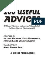 200UsefulAdvices-HajiFarooqSb