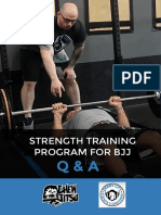 Strength Training Program for BJJ