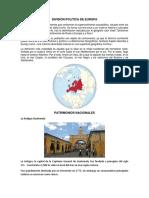 División Política de Europa y Patrimonios Culturale de La Nacion