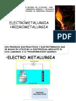 ELECTROMETALURGIA - HIDROMETALURGIA