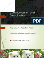 Communication and Globalization-Student's Copy