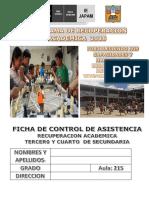 FICHA  ASISTENCIA 3° y 4°  AULA 215