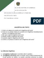 Presentación Origen de La Lingüística Del Texto