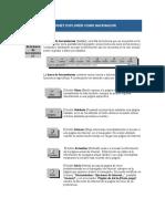 Botones de La Barra de Herramientas de Internet Explorer