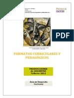 FORMATOS CURRICULARS Y PEDAGOGICOS - PLANIFICACIONES  - PRODUCCIONES DOCENTES 2011.pdf